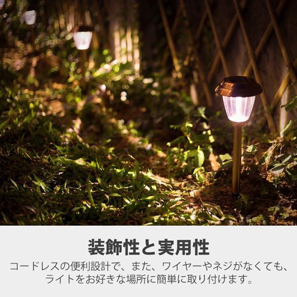 【8個セット】Finether ガーデンライト ソーラーライト 防水 パスライト ガーデンランプ ソーラー LEDガーデンライトソーラー 埋め込み式|pianisimo|07