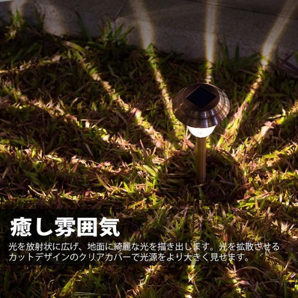 【8個セット】Finether ガーデンライト ソーラーライト 防水 パスライト ガーデンランプ ソーラー LEDガーデンライトソーラー 埋め込み式|pianisimo|08