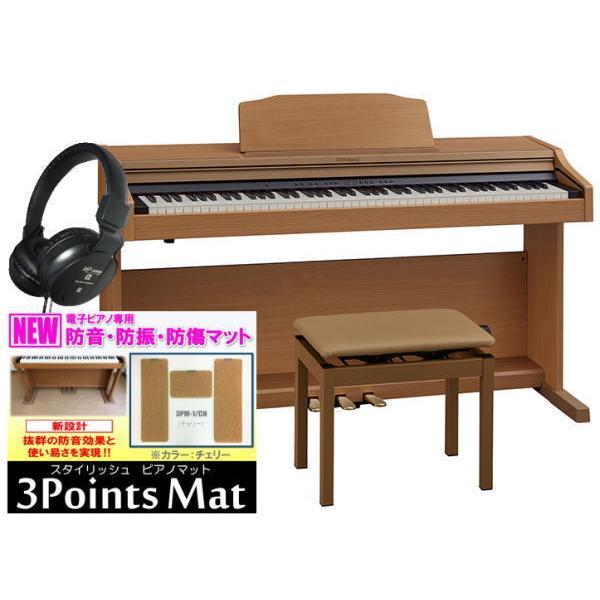 電子ピアノローランドデジタルピアノRP501RNBS(組立設置配送・防音防振マット専用高低自在椅子ヘッドホン2個セット)