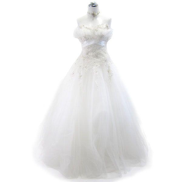 ロングドレス ウェディングドレス 9号 L58|piashop|01