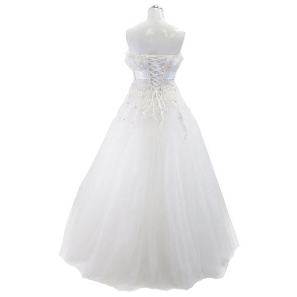 ロングドレス ウェディングドレス 9号 L58|piashop|02