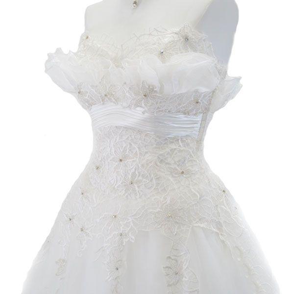 ロングドレス ウェディングドレス 9号 L58|piashop|03