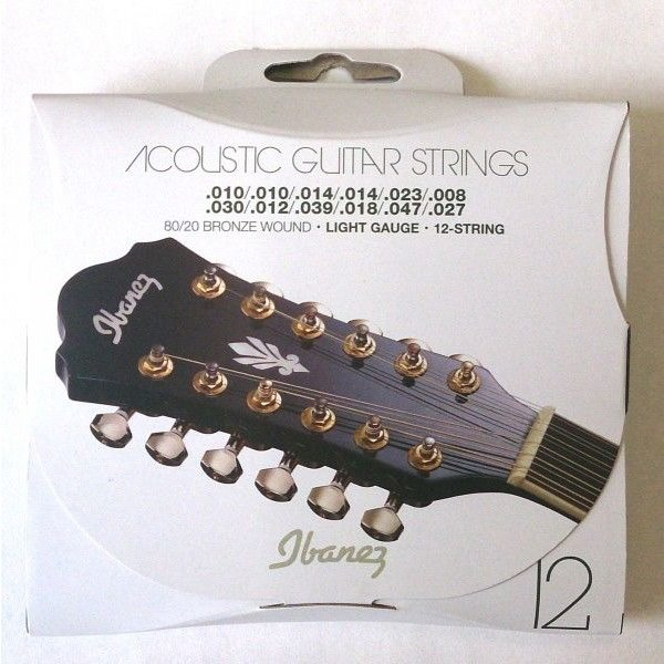 Ibanez アイバニーズ 12弦 アコースティックギター弦 ライト IACS12C