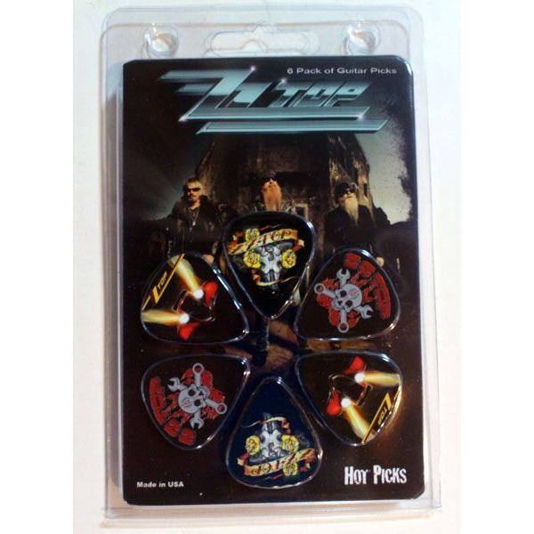Perri's ズィーズィー・トップ ピック  ZZ TOP LP-ZZ1N 6枚セット アーティストピック|pick-store