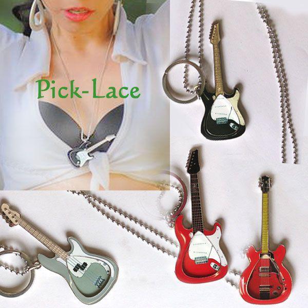 好きなピックを入れられるピックホルダー・ネックレスPick-Lace