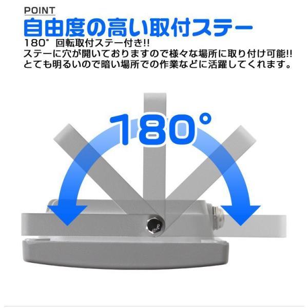 LED投光器 100W 防水 作業灯 防犯灯 ワークライト 広角120度 3mコード付 看板照明 昼光色 (12個セット)|pickupplazashop|09