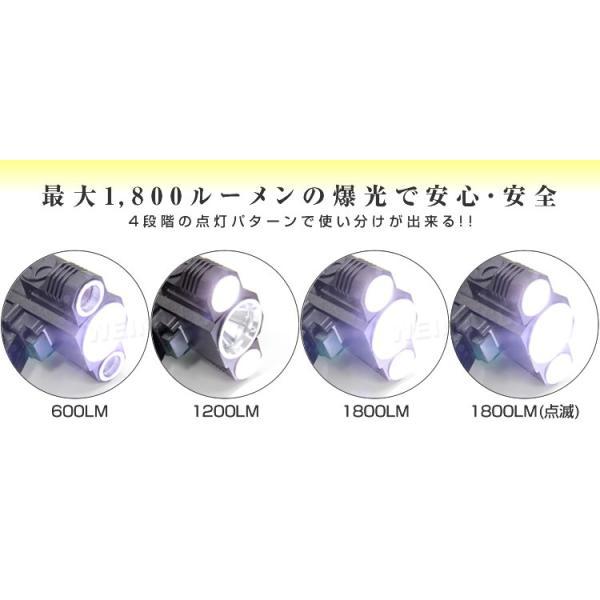 ヘッドライト 懐中電灯 防災グッズ LED アウトドア 1800LM 4種類点灯モード 防水|pickupplazashop|04