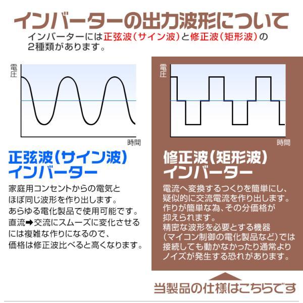 インバーター 12V 100V 定格 2000W 最大 4000W 修正波 疑似正弦波 矩形波 切替可能 自動車用|pickupplazashop|06