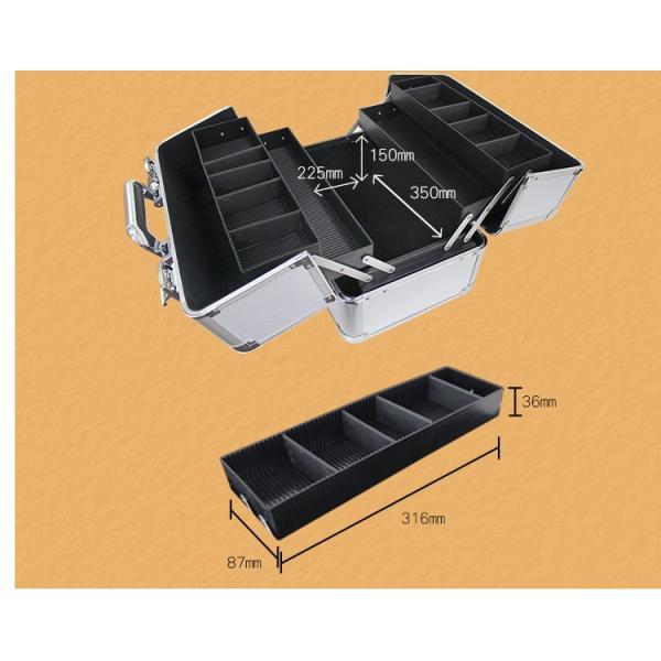 コスメボックス メイクボックス 大容量 メイク収納 化粧品収納 コスメ メイク ボックス |pickupplazashop|07