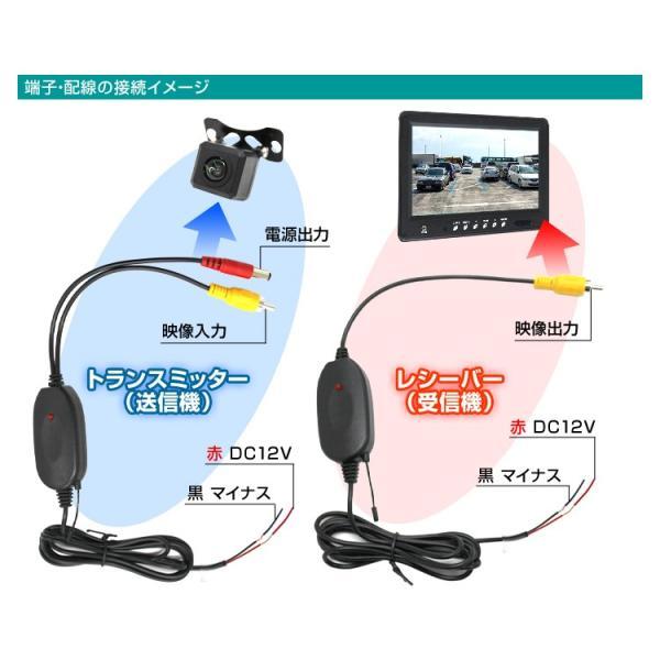 バックカメラ ワイヤレス ビデオトランスミッター 2.4GHz ワイヤレスビデオトランスミッター 車載用カメラ|pickupplazashop|06