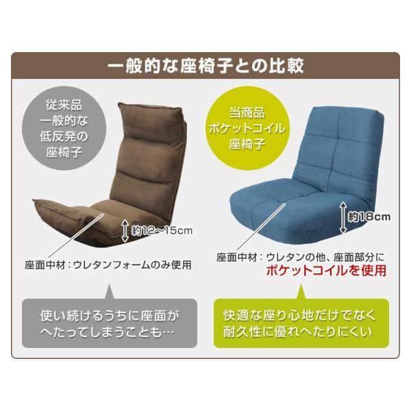 座椅子 リクライニング ポケットコイル チェア おしゃれ コンパクト|pickupplazashop|04