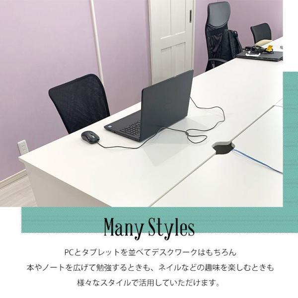 パソコンデスク オフィスデスク 事務机 おしゃれ 幅120cm PCデスク ホワイト 事務デスク pickupplazashop 04