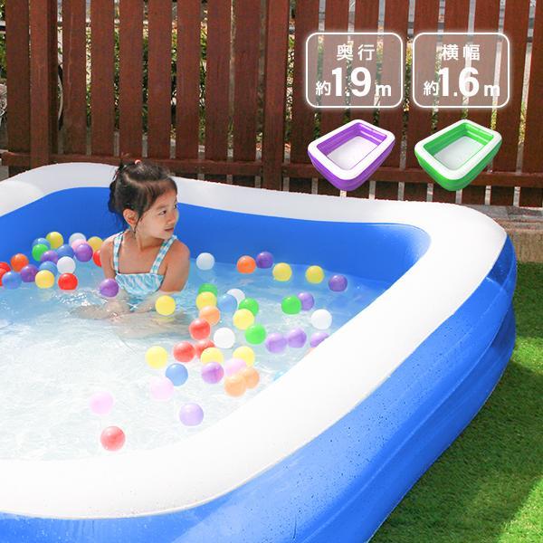 プール 家庭用 大型 1.9m 子供用 ビニールプール ファミリープール 子供用|pickupplazashop