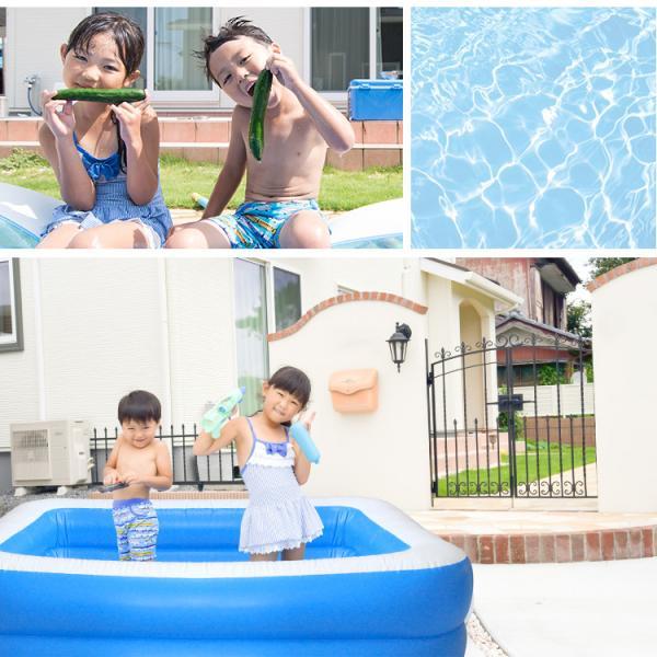 プール 家庭用 大型 1.9m 子供用 ビニールプール ファミリープール 子供用|pickupplazashop|03