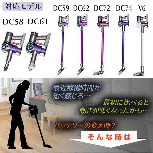 ダイソン バッテリー ネジ式 掃除機 dyson DC58 DC59 DC61 DC62 DC74 互換 2200mAh 大容量 掃除機部品 アクセサリー pickupplazashop 03