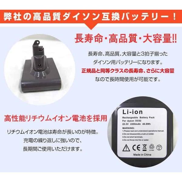 ダイソン バッテリー ネジ式 掃除機 dyson DC58 DC59 DC61 DC62 DC74 互換 2200mAh 大容量 掃除機部品 アクセサリー pickupplazashop 04