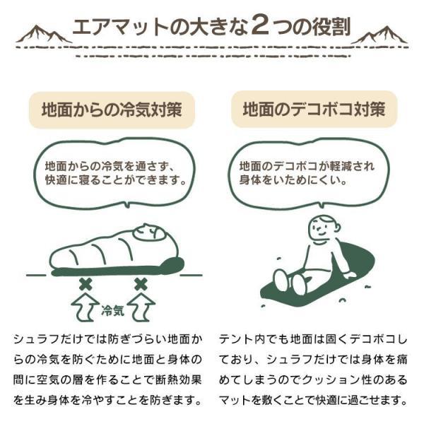 エアマット 車中泊 キャンプ 自動膨張式 テントマット アウトドア エアーマット エアベッド 2枚セット|pickupplazashop|05