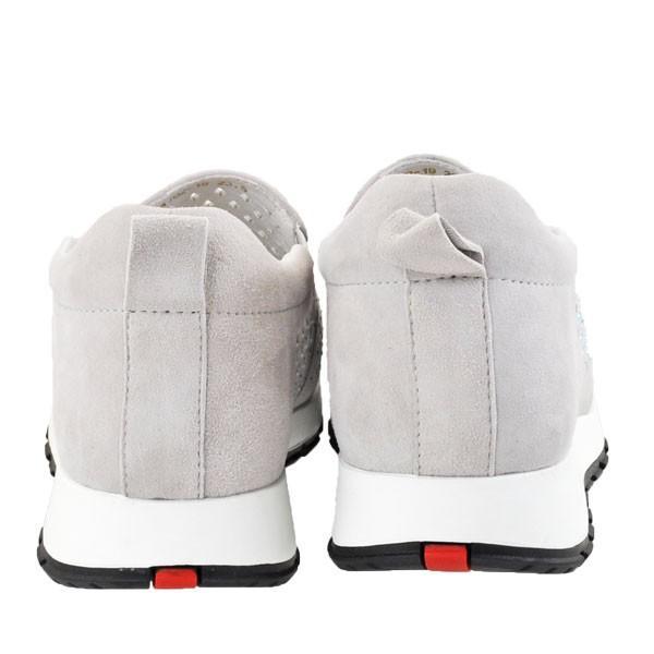 レディース 靴 カジュアルシューズ デオチョアデオチョ パンチング スリッポン グレー A162-19GY