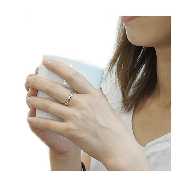 指輪 レディース リング サージカルステンレス メッセージ刻印リング 天然ダイヤモンド