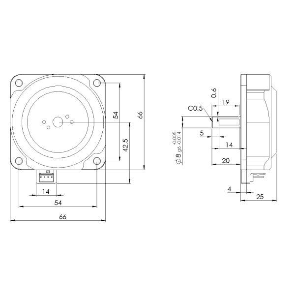 一般環境用 片軸モータ PSM60S-A|piezo-sonic|02
