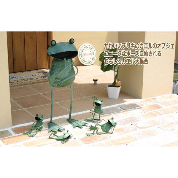 ジャンボメタルフロッグ直立 4164 カエル 雑貨 カエルの置物 プレゼント 特大|piglet|02