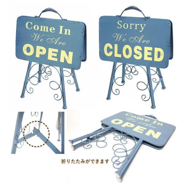 即出荷 オープン&クローズlowスタンド 看板 オープンスタンド クローズ ウェルカムボード アイアン 案内板 店舗用 両面 おしゃれ ガーデニング 7042|piglet|04
