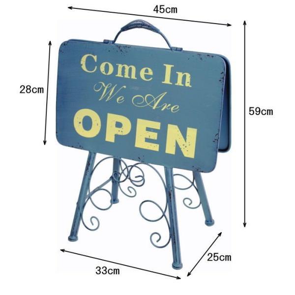 即出荷 オープン&クローズlowスタンド 看板 オープンスタンド クローズ ウェルカムボード アイアン 案内板 店舗用 両面 おしゃれ ガーデニング 7042|piglet|06
