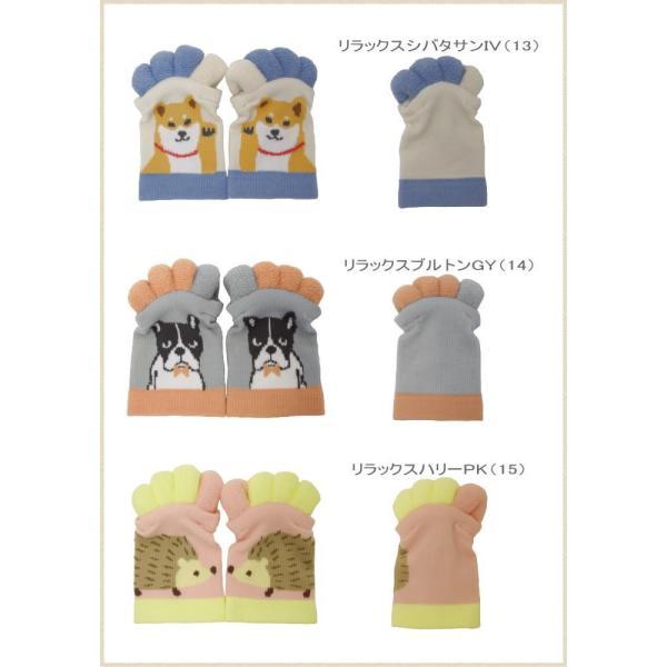 即出荷 足指ソックス 足指 広げる 5本指 靴下 ソックス ネイル ペディキュア リラックス フットケア ストレッチ かわいい ネコ イヌ|piglet|09