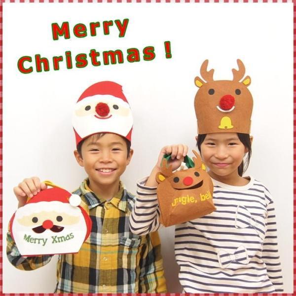 即出荷 クリスマス会 ミニバッグ 子供 キッズ ギフト サンタ トナカイ スノーマン 雪だるま クリスマス用品 飾り ラッピング プレゼント おしゃれ かわいい|piglet|04