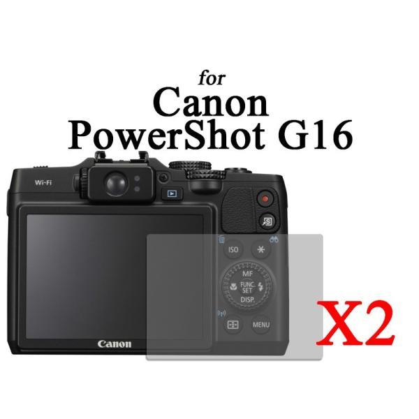 CANON POWERSHOT G16デジタルカメラ専用液晶保護フィルムシート#クリアタイプ×2セット