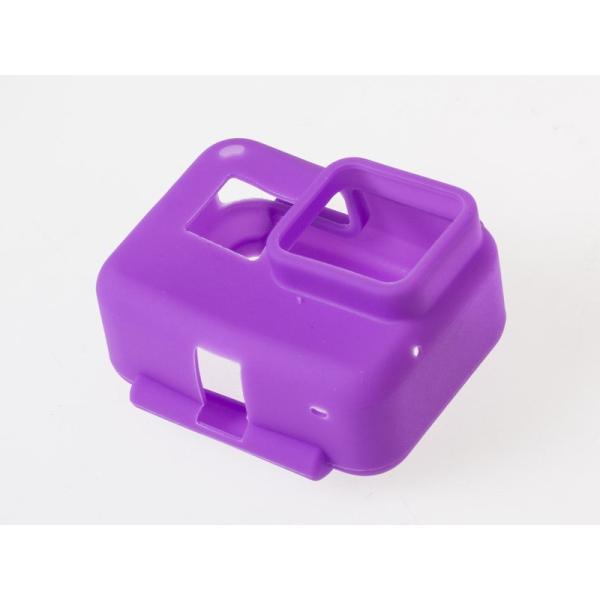 アウトドア Gopro hero 5 スポーツカメラ 用 カラフル シリコン製 保護カバー ソフトケース カバー#紫