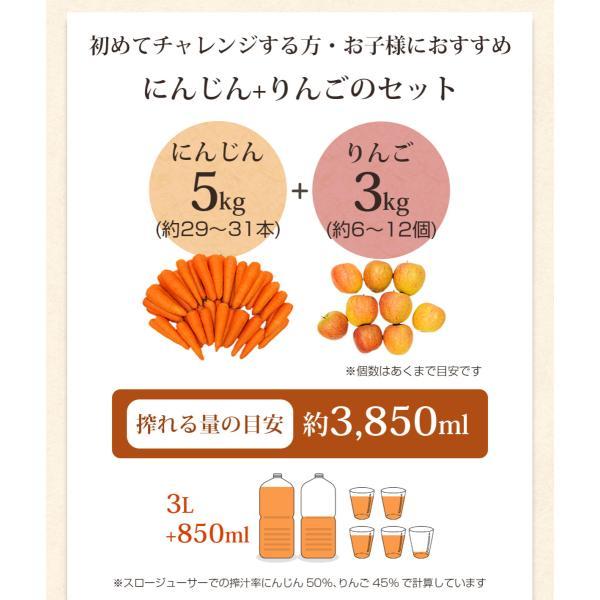 にんじん 人参 送料無料 野菜セット 無農薬にんじん5kg+慣行栽培りんご3kg|pika831|04