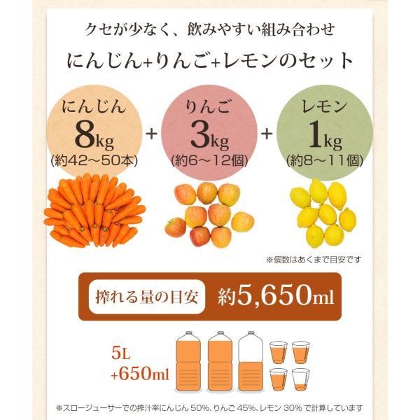 にんじん 人参 送料無料 野菜セット 無農薬にんじん8kg+りんご3kg+レモン1kg 無農薬 グルメ|pika831|04
