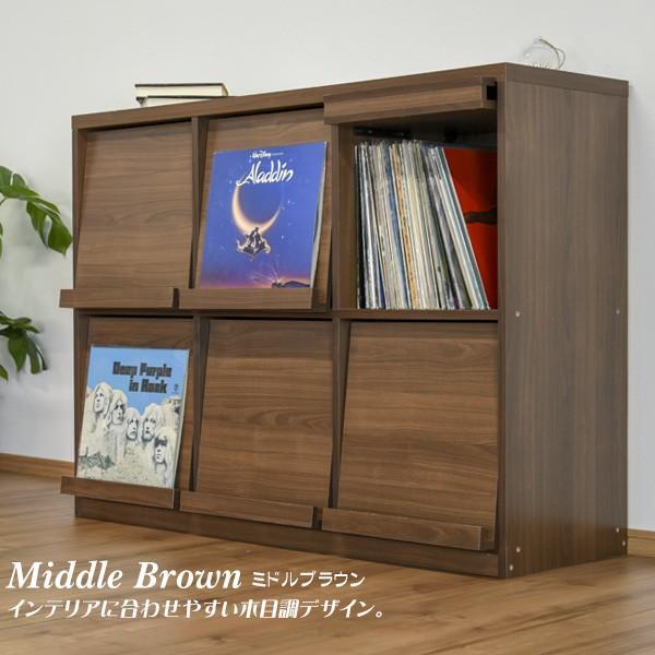 本棚 ディスプレイラック 幅120 レコードラック レコード収納 LP収納 木製 フラップ扉 北欧 オープン キャビネット フラップチェスト 新生活|pikaichi-kagu|09