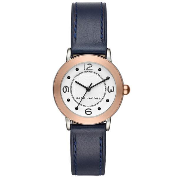 マークジェイコブス 時計 MARC JACOBS ライリー レザー レディース ウォッチ 腕時計 ネイビー MJ1604