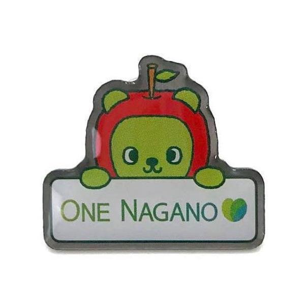 ONE NAGANO 寄附金付きアルクマピンバッジ|pin-bigwave