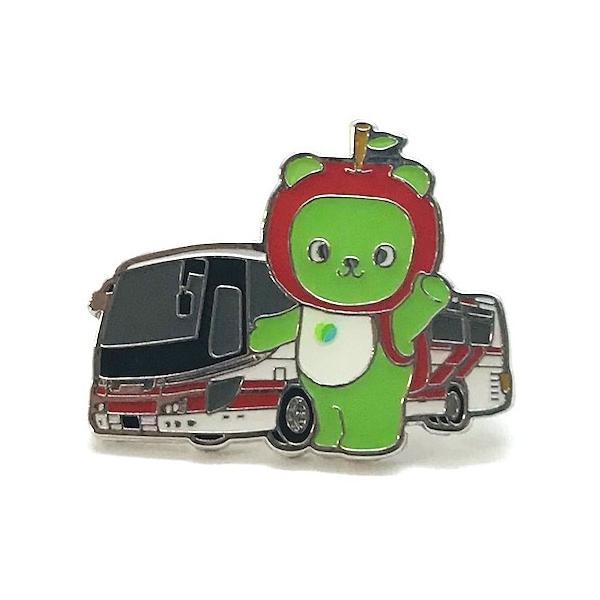 アルクマと長野観光バス ピンバッジ|pin-bigwave