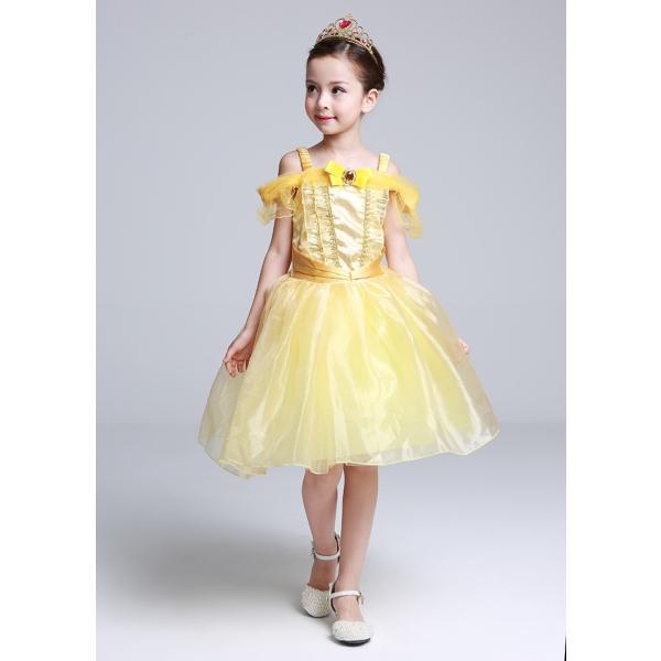 ベル 美女と野獣 子供ドレス プリンセス コスチューム なりきり ワンピース|pink-dolly