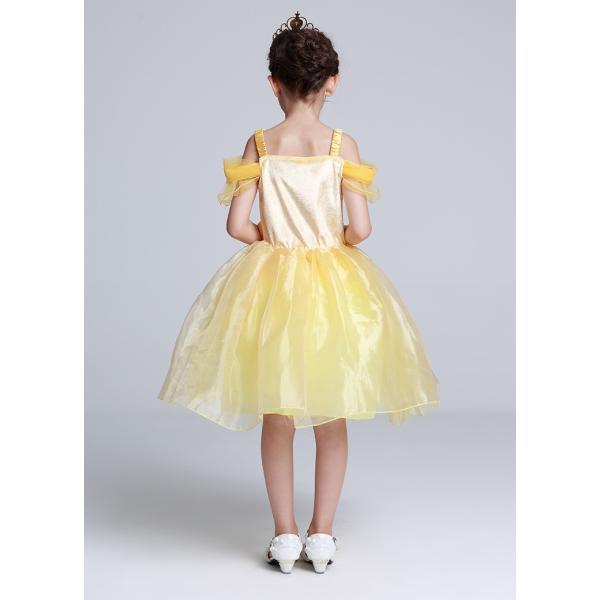 ベル 美女と野獣 子供ドレス プリンセス コスチューム ワンピース (ネコポス350円)|pink-dolly|02