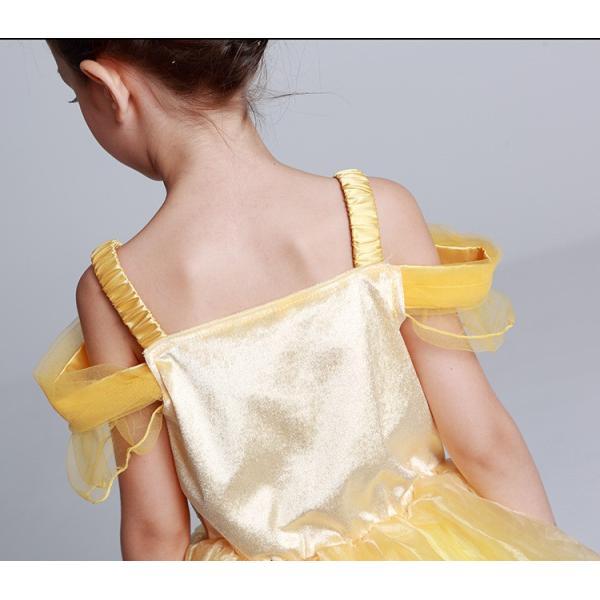ベル 美女と野獣 子供ドレス プリンセス コスチューム ワンピース (ネコポス350円)|pink-dolly|04
