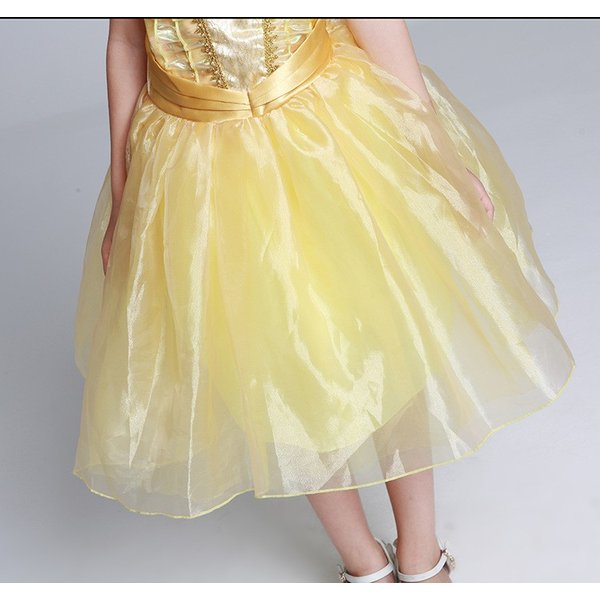 ベル 美女と野獣 子供ドレス プリンセス コスチューム ワンピース (ネコポス350円)|pink-dolly|05