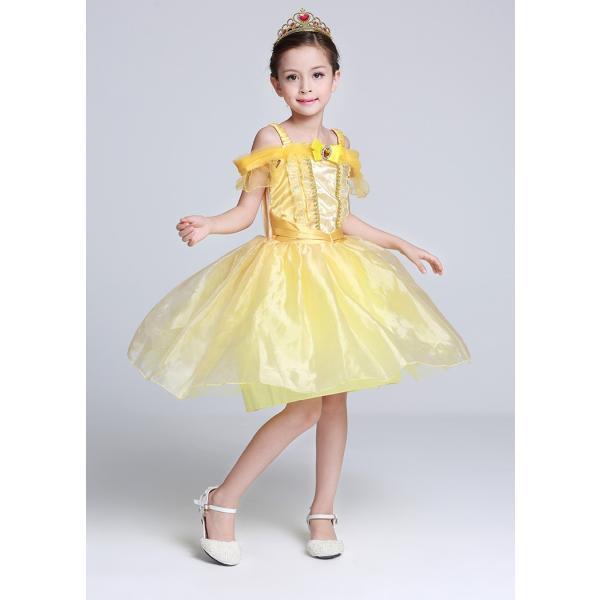 ベル 美女と野獣 子供ドレス プリンセス コスチューム なりきり ワンピース|pink-dolly|06