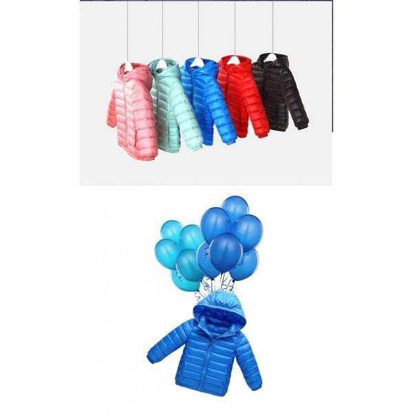 ダウンジャケット  子供 90%ダウン 超軽量ダウンコート フード取り外し可能|pink-dolly|03