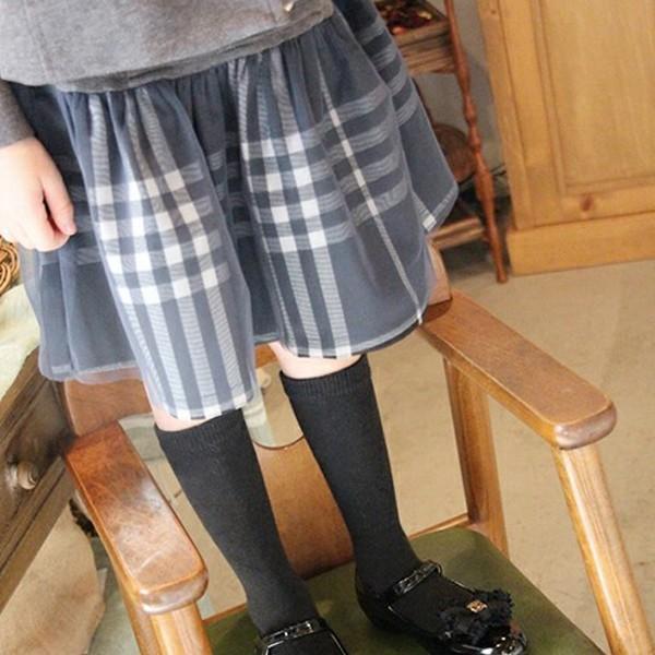 フォーマル スカート チュール 女の子 子供服  キッズ 入学式 入園式 卒業式 結婚式  タータンチェック グレー チャコール 140 130 120 110 100 90 モニカ|pinkcat-rora
