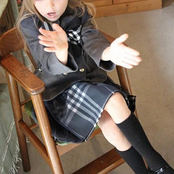フォーマル スカート チュール 女の子 子供服  キッズ 入学式 入園式 卒業式 結婚式  タータンチェック グレー チャコール 140 130 120 110 100 90 モニカ|pinkcat-rora|03