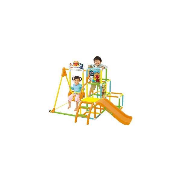 アンパンマン NEWブランコパークDX アガツマ agatsuma Anpanman 室内用 ジャングルジム 遊具 ぶらんこ すべり台 おもちゃ 誕生日プレゼント 知育玩具 人気商品:*|pinkybabys|02