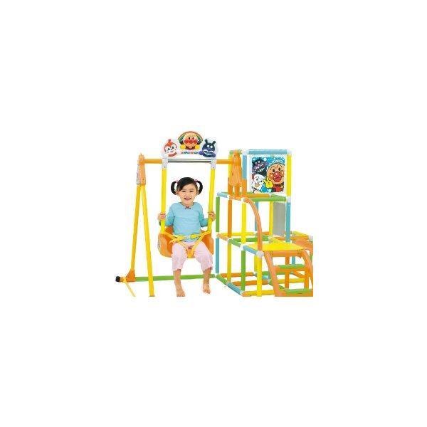 アンパンマン NEWブランコパークDX アガツマ agatsuma Anpanman 室内用 ジャングルジム 遊具 ぶらんこ すべり台 おもちゃ 誕生日プレゼント 知育玩具 人気商品:*|pinkybabys|03