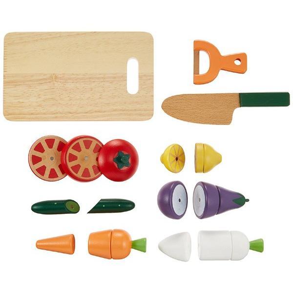 はじめてのおままごと サラダセット 木箱入り ディンギー おもちゃ 野菜 誕生日 安全 安心 食材セット WOODY PUDDY ウッディプッディ ごっこあそび おままごと pinkybabys 04