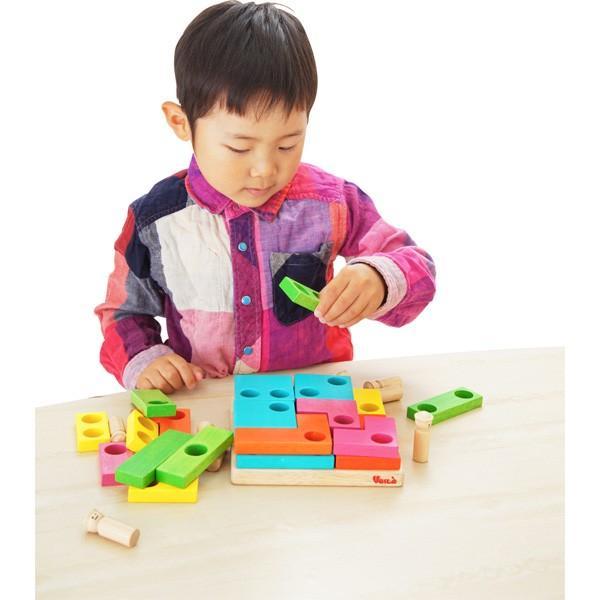木のおもちゃ ボイラパズル2 木製玩具 ボイラ voila パズル 指先の知育 脳トレ 立体パズル 指先遊び 知育玩具 プレゼント 誕生日 ギフト 男の子 女の子|pinkybabys|04