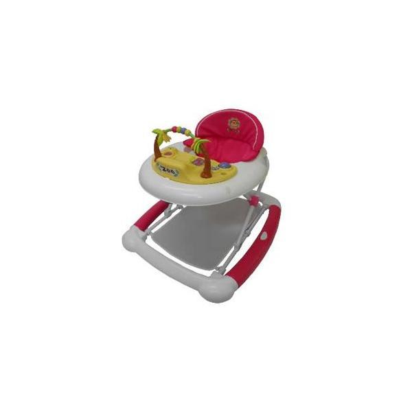 正規品 歩行器 ベビーウォーカーZOO ピンク JTC ジェーティーシー 歩行器 シンプル 乗用 おもちゃ つたい歩き 折りたたみ 誕生日プレゼント 安全 kids baby